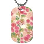 Aquarelle pink flower  Dog Tag (Two Sides) Front