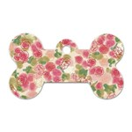 Aquarelle pink flower  Dog Tag Bone (One Side) Front