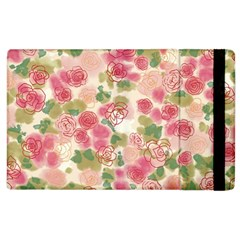 Aquarelle Pink Roses Apple Ipad 2 Flip Case by Brittlevirginclothing