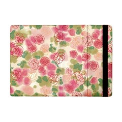 Aquarelle Pink Roses Apple Ipad Mini Flip Case by Brittlevirginclothing
