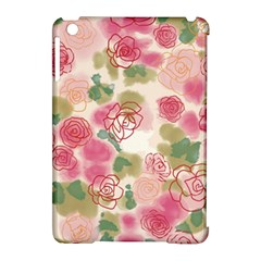 Aquarelle Pink Roses Apple Ipad Mini Hardshell Case (compatible With Smart Cover) by Brittlevirginclothing