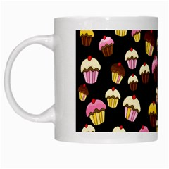 Jammy Cupcakes Pattern White Mugs by Valentinaart