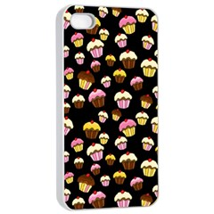 Jammy Cupcakes Pattern Apple Iphone 4/4s Seamless Case (white) by Valentinaart