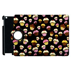 Jammy Cupcakes Pattern Apple Ipad 3/4 Flip 360 Case by Valentinaart
