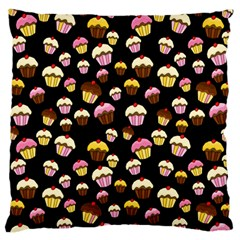 Jammy Cupcakes Pattern Standard Flano Cushion Case (one Side) by Valentinaart