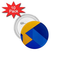 Box Yellow Blue Red 1 75  Buttons (10 Pack)