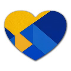 Box Yellow Blue Red Heart Mousepads by Jojostore