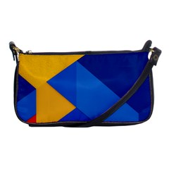Box Yellow Blue Red Shoulder Clutch Bags by Jojostore