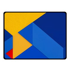 Box Yellow Blue Red Fleece Blanket (small) by Jojostore