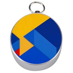 Box Yellow Blue Red Silver Compasses