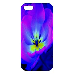 Blue And Purple Flowers Iphone 5s/ Se Premium Hardshell Case
