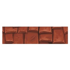 Chocolate Satin Scarf (oblong)
