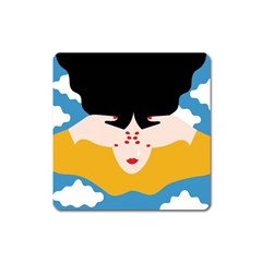 Close Your Eyes Square Magnet by Jojostore