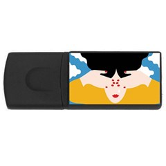 Close Your Eyes Usb Flash Drive Rectangular (4 Gb)  by Jojostore
