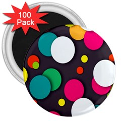 Color Balls 3  Magnets (100 Pack) by Jojostore
