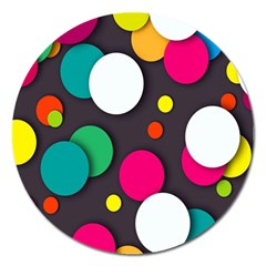 Color Balls Magnet 5  (round) by Jojostore