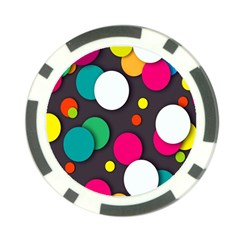 Color Balls Poker Chip Card Guards by Jojostore