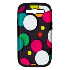Color Balls Samsung Galaxy S Iii Hardshell Case (pc+silicone)