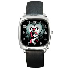 Happily Ever After Square Metal Watch