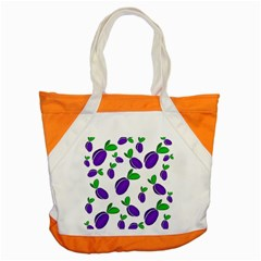 Decorative Plums Pattern Accent Tote Bag by Valentinaart