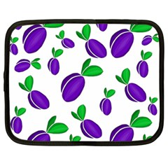 Decorative Plums Pattern Netbook Case (large) by Valentinaart