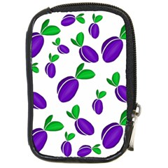 Decorative Plums Pattern Compact Camera Cases by Valentinaart