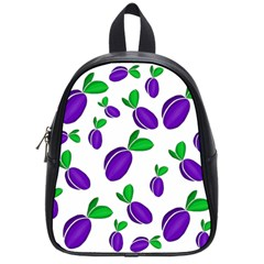 Decorative Plums Pattern School Bags (small)  by Valentinaart