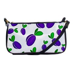 Decorative Plums Pattern Shoulder Clutch Bags by Valentinaart