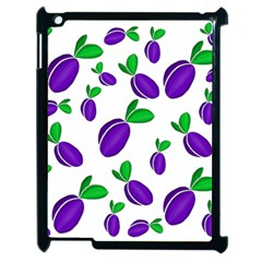 Decorative Plums Pattern Apple Ipad 2 Case (black) by Valentinaart