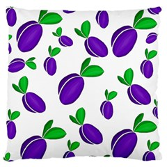 Decorative Plums Pattern Large Cushion Case (two Sides)