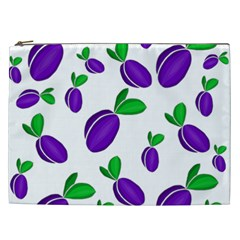 Decorative Plums Pattern Cosmetic Bag (xxl)  by Valentinaart