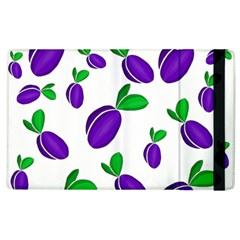 Decorative Plums Pattern Apple Ipad 2 Flip Case by Valentinaart