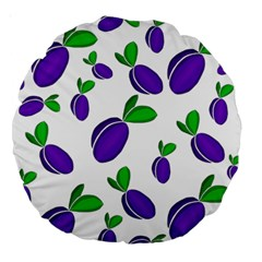 Decorative Plums Pattern Large 18  Premium Round Cushions by Valentinaart