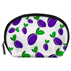 Decorative Plums Pattern Accessory Pouches (large)  by Valentinaart