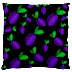 Plums Pattern Large Flano Cushion Case (one Side) by Valentinaart