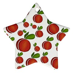 Peaches Pattern Star Ornament (two Sides)  by Valentinaart