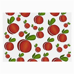 Peaches Pattern Large Glasses Cloth (2-side) by Valentinaart