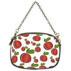 Peaches Pattern Chain Purses (one Side)  by Valentinaart