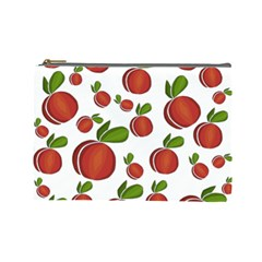 Peaches Pattern Cosmetic Bag (large)