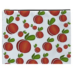 Peaches Pattern Cosmetic Bag (xxxl)  by Valentinaart