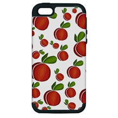 Peaches Pattern Apple Iphone 5 Hardshell Case (pc+silicone) by Valentinaart