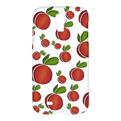 Peaches Pattern Samsung Galaxy S4 I9500/i9505 Hardshell Case by Valentinaart