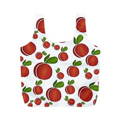Peaches Pattern Full Print Recycle Bags (m)  by Valentinaart