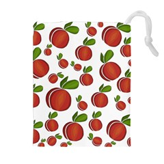 Peaches Pattern Drawstring Pouches (extra Large)