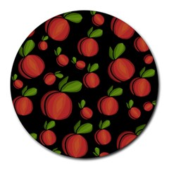 Peaches Round Mousepads by Valentinaart