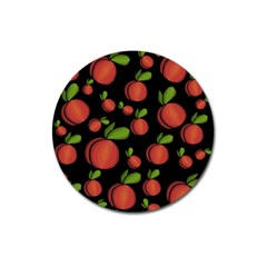 Peaches Magnet 3  (round) by Valentinaart
