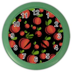Peaches Color Wall Clocks by Valentinaart