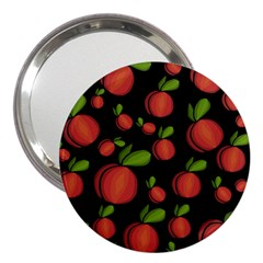 Peaches 3  Handbag Mirrors by Valentinaart