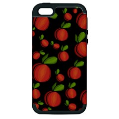 Peaches Apple Iphone 5 Hardshell Case (pc+silicone) by Valentinaart