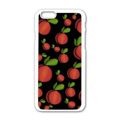 Peaches Apple Iphone 6/6s White Enamel Case by Valentinaart